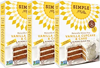 Simple Mills Almond Flour Mix, Vanilla Cupcake & Cake, 11.5 Ounce (Pack of 3)