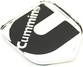 1 NEW 94-02 CUMMINS SECOND GEN CHROME AND BLACK CUSTOM GRILL EMBLEM BADGE