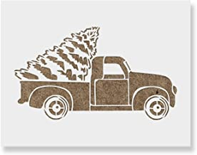 Christmas Truck Stencil - Reusable Stencils for Christmas Time - Quick Shipping & Made in U.S.A.