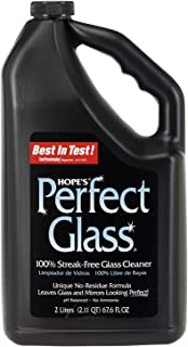 HOPE'S Perfect Glass Cleaner Refill, 67.6-Ounce, Streak-Free Glass Cleaner Refill, Less Wiping, No Residue - Pack of 2