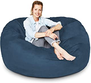 4 ft Bean Bag Chair Cover Only, Large Washable Furniture Bean Bag Replacement Cover with Wash Bag Filling by nest Bedding