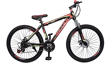 VLRA BIKE Mountain Bike 26 inch| 21 Speed |Sturdy Carbon Steel Frame Bike| Fronk Fork Suspension System | For Men and Wome...
