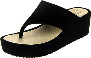 Dunlop Femmes Sandales compensées compensées en Velours