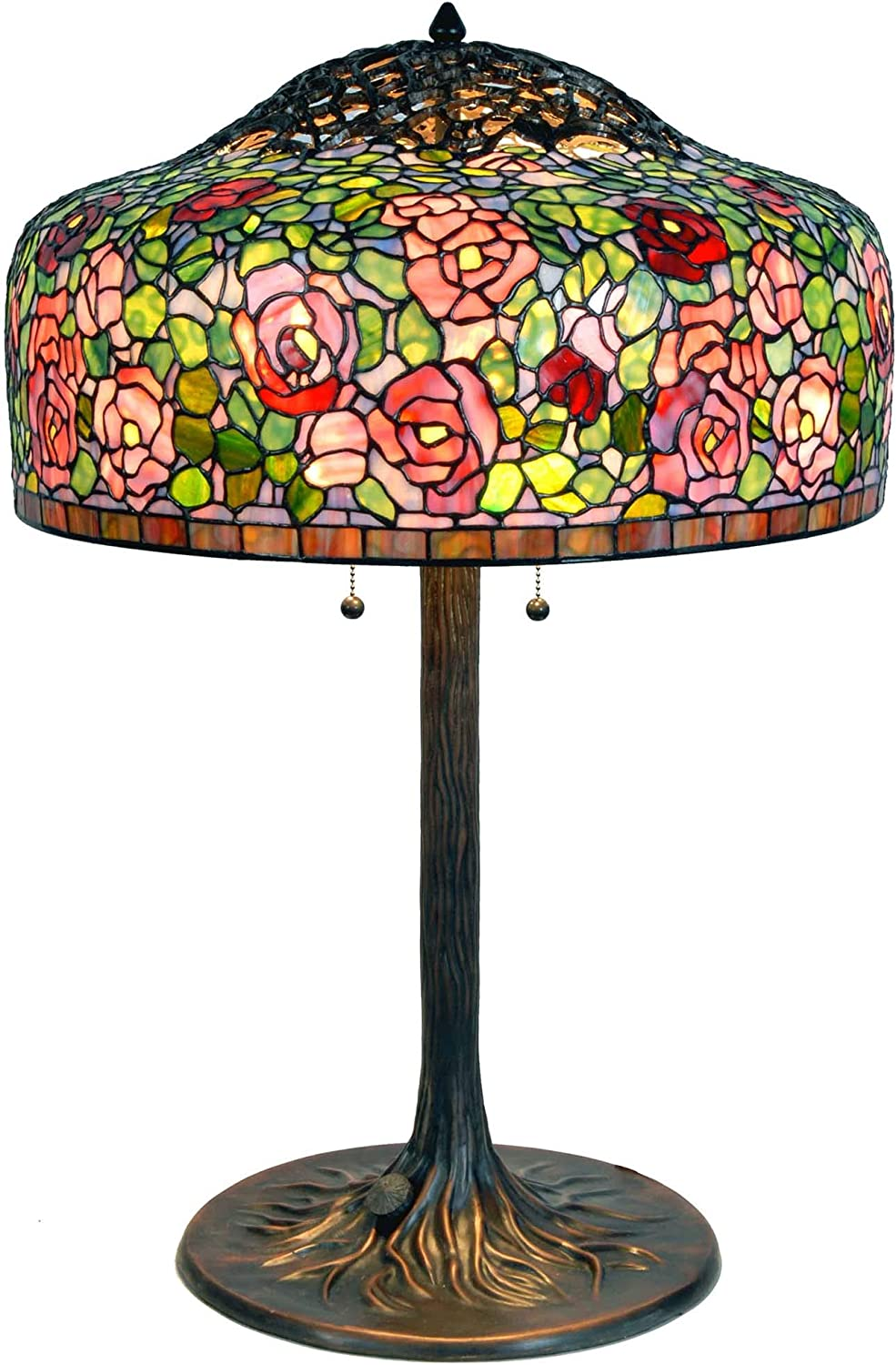 Bieye L10794 Rose latest Flowers Tiffany Lamp Ranking TOP4 Table Glass Style Stained