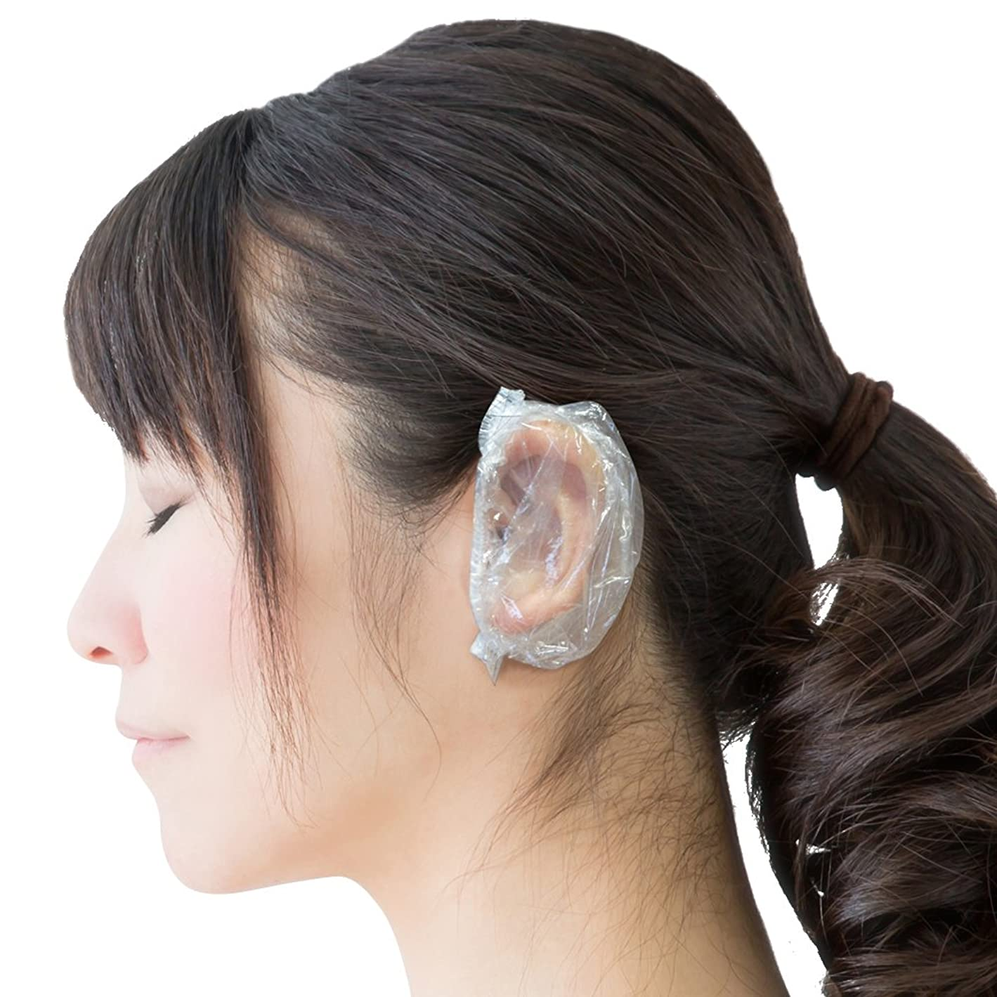 オペラプーノ不透明な【Fiveten】 耳キャップ イヤーキャップ 耳カバー 毛染め 使い捨て 100個