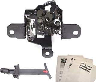 Hood Latch Lock + Pull Handle Compatible With Volkswagen VW Jetta Golf GTI Mk4