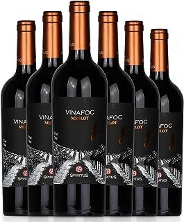 火葡园 干红葡萄酒(美乐)750ml*6 西班牙原装进口红酒