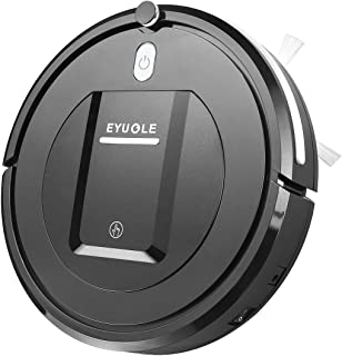 EYUGLE ロボット掃除機 3つ掃除モード リモコン制御 お掃除ロボット 超薄型 落下防止 長期間稼働 静音 日本語説明書付き KK290A(ブラック)