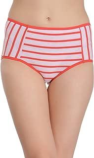 Clovia Women's Cotton High Waist Striped Hipster