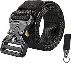 KingMoore Men's Tactical Belt Heavy Duty Webbing Belt Adjustable Military Style..