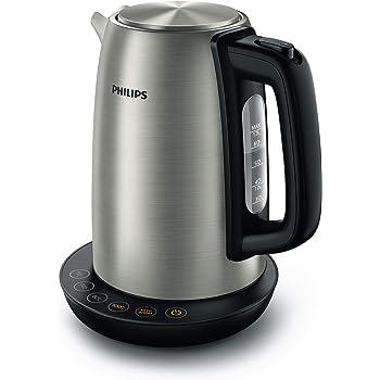 Philips HD9359/90 Wasserkocher aus Edelstahl für Tee bis Babynahrung (2200 Watt, 1,7 Liter, Warmhaltefunktion)