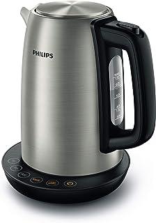 Philips HD9359/90 Bouilloire en acier inoxydable pour thé jusqu'à la nourriture pour bébé (2200 W, 1,7 l, fonction maintie...