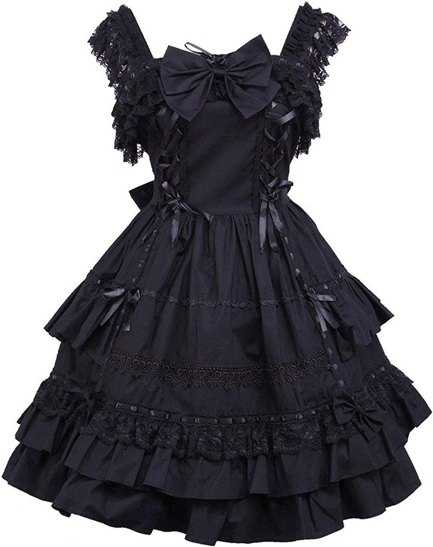 Cemavin Cotton Black Bow Sleeveless Classic Lolita Dress