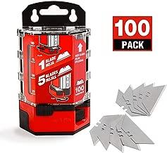 Goldblatt 100-Pack Utility Blades Premium Tempered SK2M Steel with Dispenser