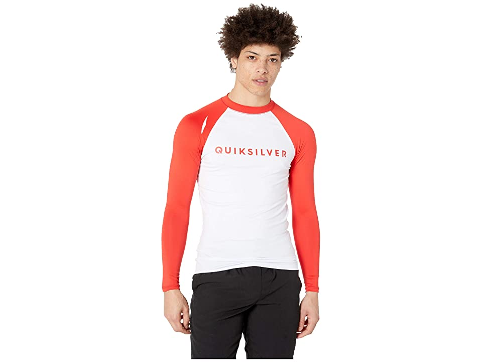 Quiksilver Always There Long Sleeve Rashguard (High Risk Red) Men