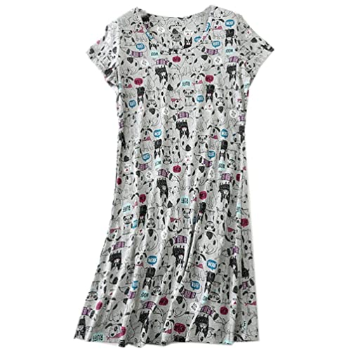 52138afb8 ENJOYNIGHT Women's Sleepwear Cotton Sleep Tee Short Sleeves Print Sleepshirt