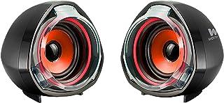 Woxter Big Bass 70 Red - Altavoces para PC, Mando de Control de Volumen, Gaming, 15W de Potencia, Conexiones 3,5mm y USB. ...