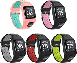 Compatible with Tom-Tom Watch Bands, Five Star Online Silicone Replacement Watch Band Strap Bracelet Wristband for Runner Cardio GPS Watch Accessories + HRM (5PCS Pack)