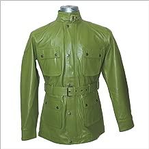 WhitePilotShirts Mens Leather Jacket Military Style Belt Soft Wax Genuine Leather Gents Motorbike Panther Nappa New