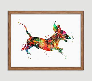 Dachshund Watercolor Poster Dog Art Prints Weiner Doxie Dachshund Wall Decor Artworks Sausage Dog Wall Art Dining Room Art Wall Hanging House Warming Gift for Dog Lover