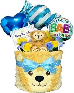 おむつケーキ [ 男の子/ダッフィー : ディズニー / 1段 ] パンパース S13枚 (出産祝い に Sサイズ)1501 ダイパーケーキ 赤ちゃん ベビーシャワー ギフト 誕生日プレゼント