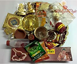 Diwali Decorative Puja Thali (31 Ingredients)