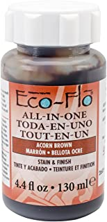 Eco-Flo All-in-One Stain & Finish 4.4oz-Acorn Brown