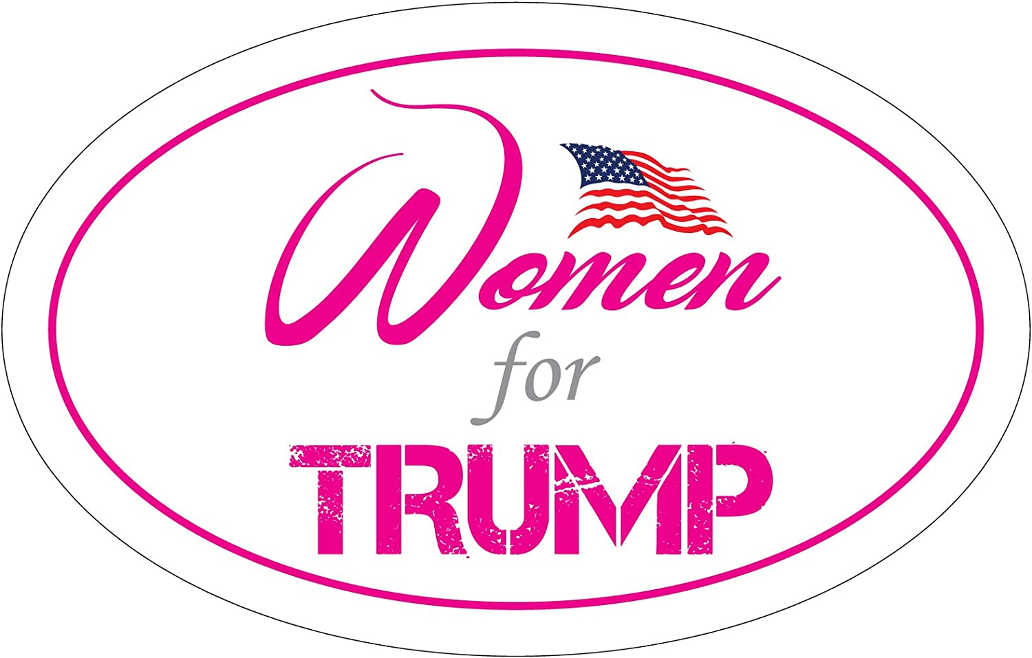 All items in the store 4 years warranty StickerPirate Oval Car Magnet Trump Women 2020 for TO451