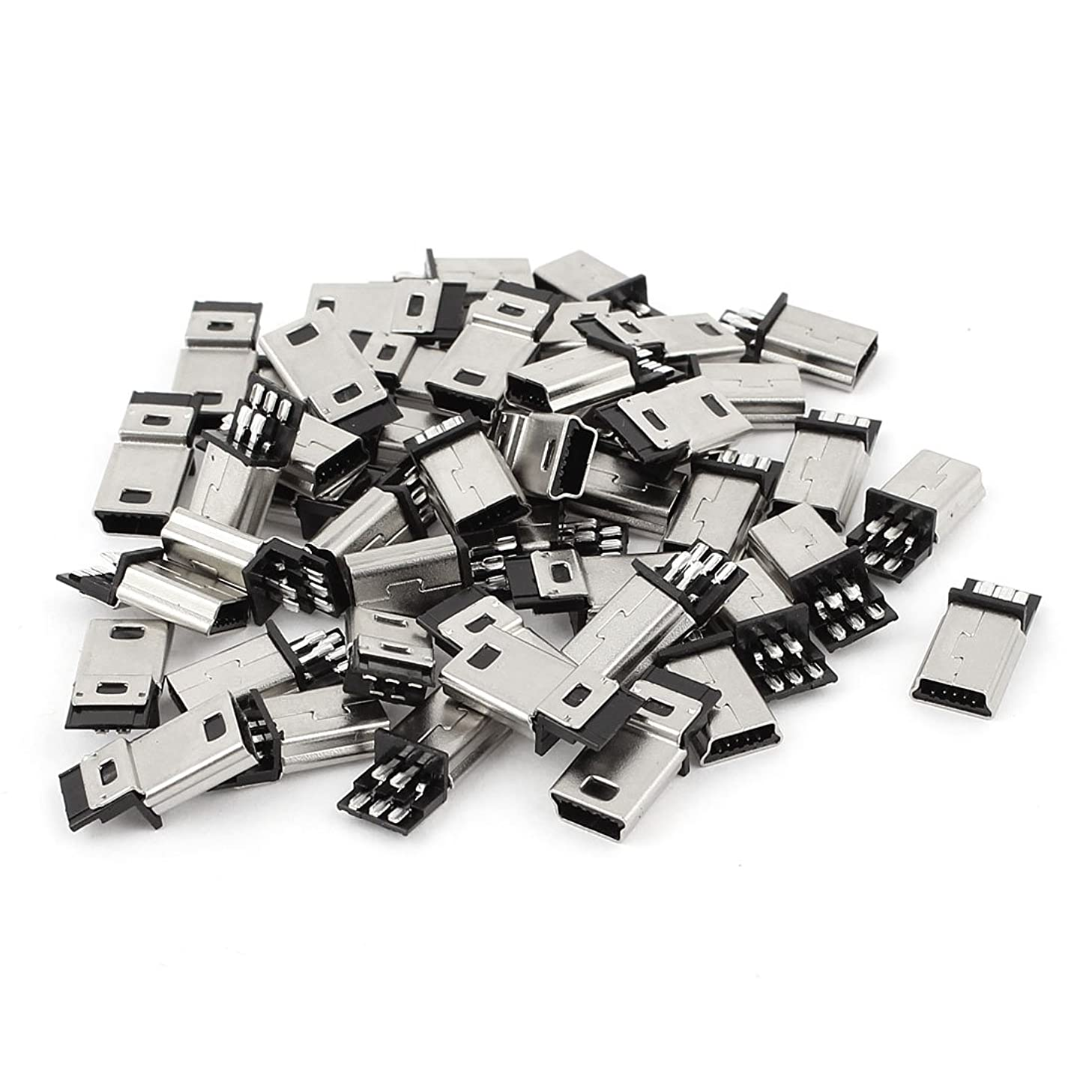 uxcell 45Pcs Mini USB 5pin Type B Male Connector PCB Mount Socket
