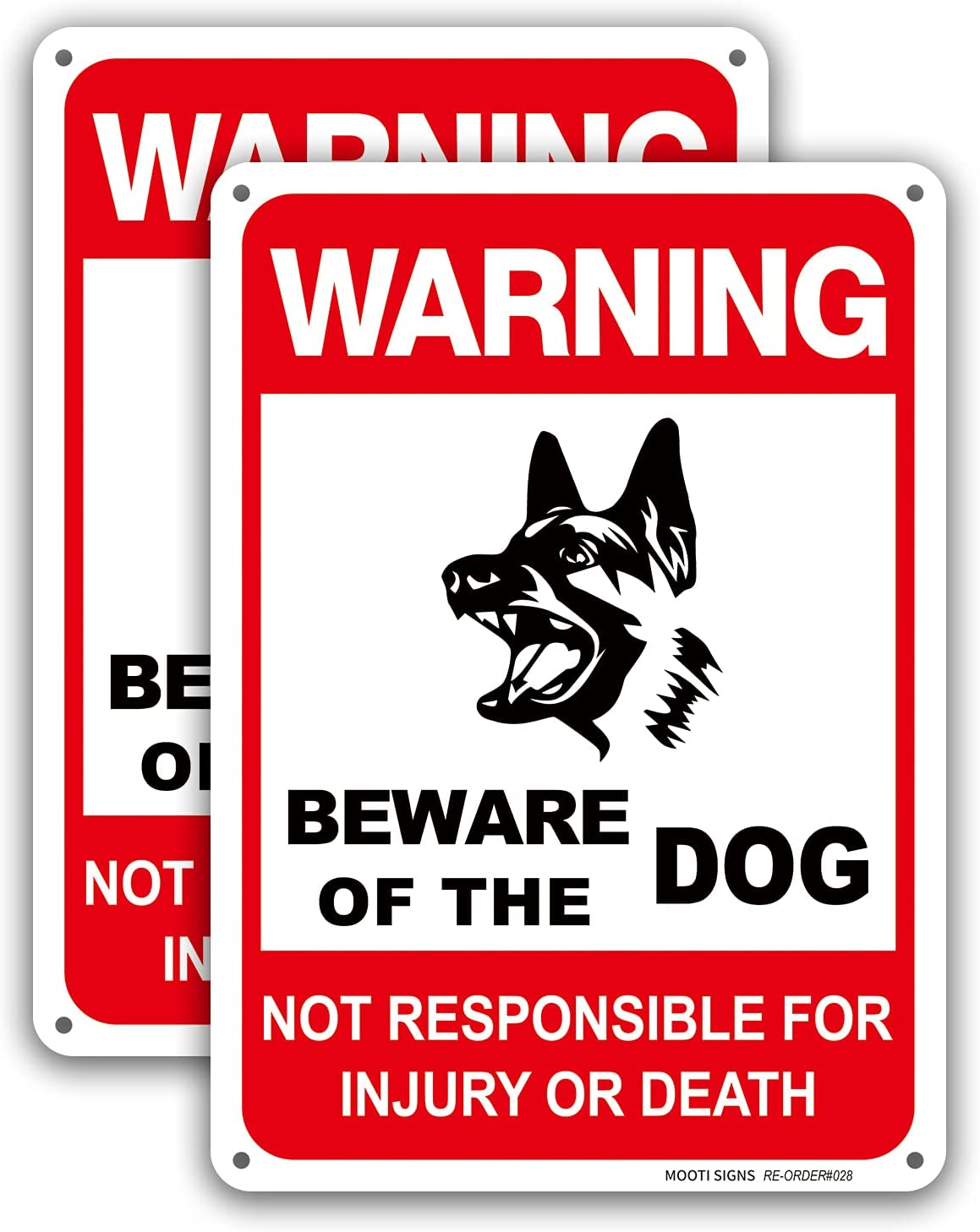 Dog Warning Signs Milwaukee Mall Beware of Aluminum Sign OFFicial shop Not The Re