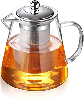 Glass Teapot with Infuser Tea Pot 950ml/32oz Tea Kettle Stovetop Safe Blooming and Loose Leaf Tea Maker Set