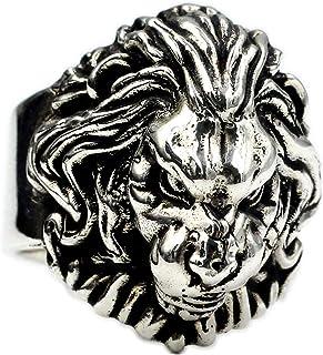 Cento Battaglie Anello Leone 925 Argento Sterling Argento Tailandese Fatto A Mano Leone Lion Maschio Domineering Grande An...