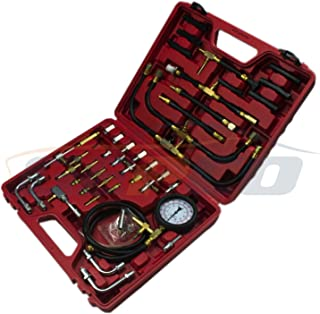 SOULONG 17Pcs Testeur de Compression pour Moteur /à Diesel Auto Cylindre Fuite Testeur Compression Fuite D/étecteur 0-70 Bar ou 0-1000 Psi