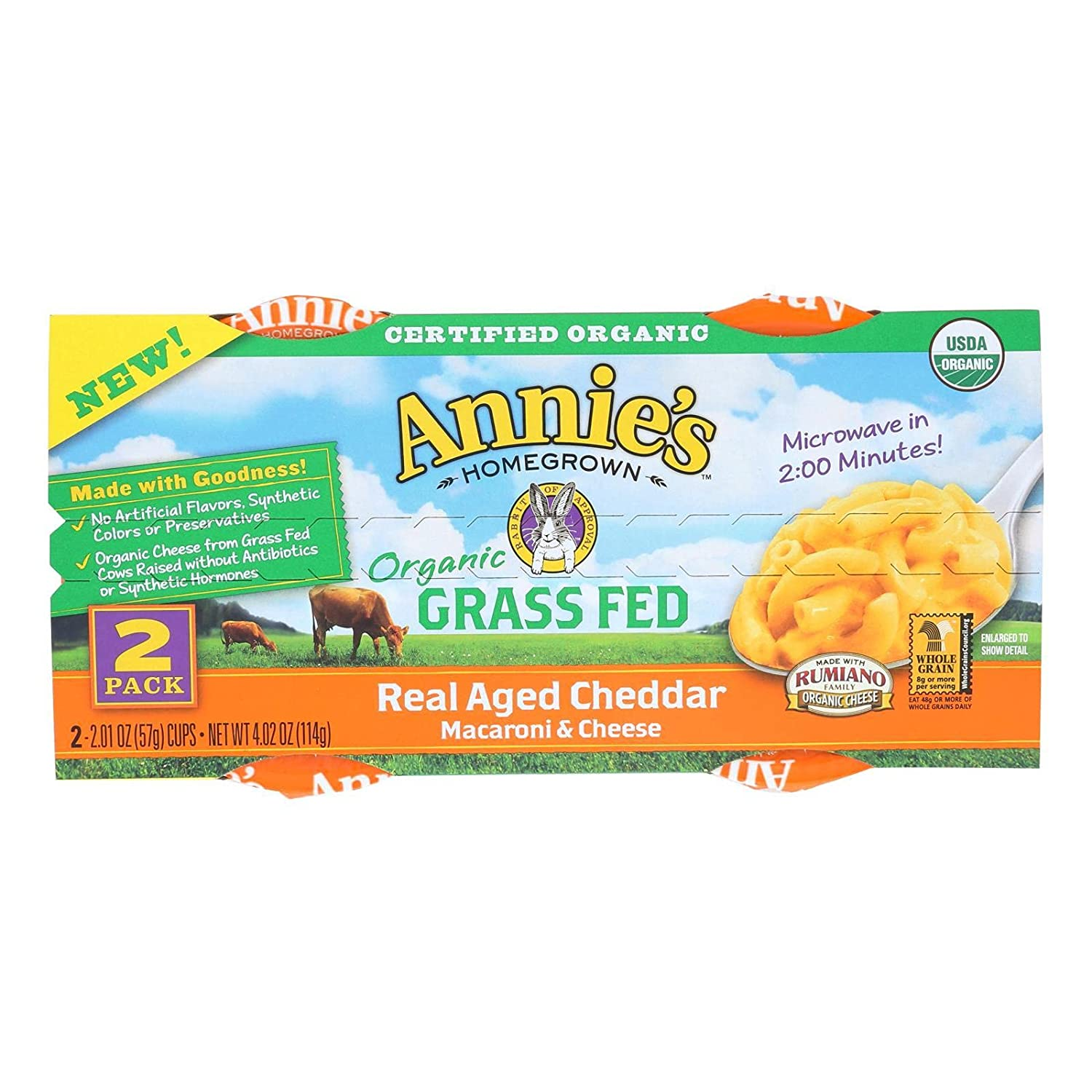 Annies Homegrown Organic OFFicial store Microwave Macaroni Cheese Al sold out. Cup and 4.02