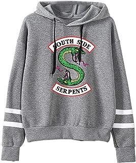 Abbigliamento Sportivo a Maniche Lunghe Comodo ed Moda JOAYIN Felpa Corta Stampato con Riverdale Logo per Donna e Ragazza Southside Serpents Hoodie