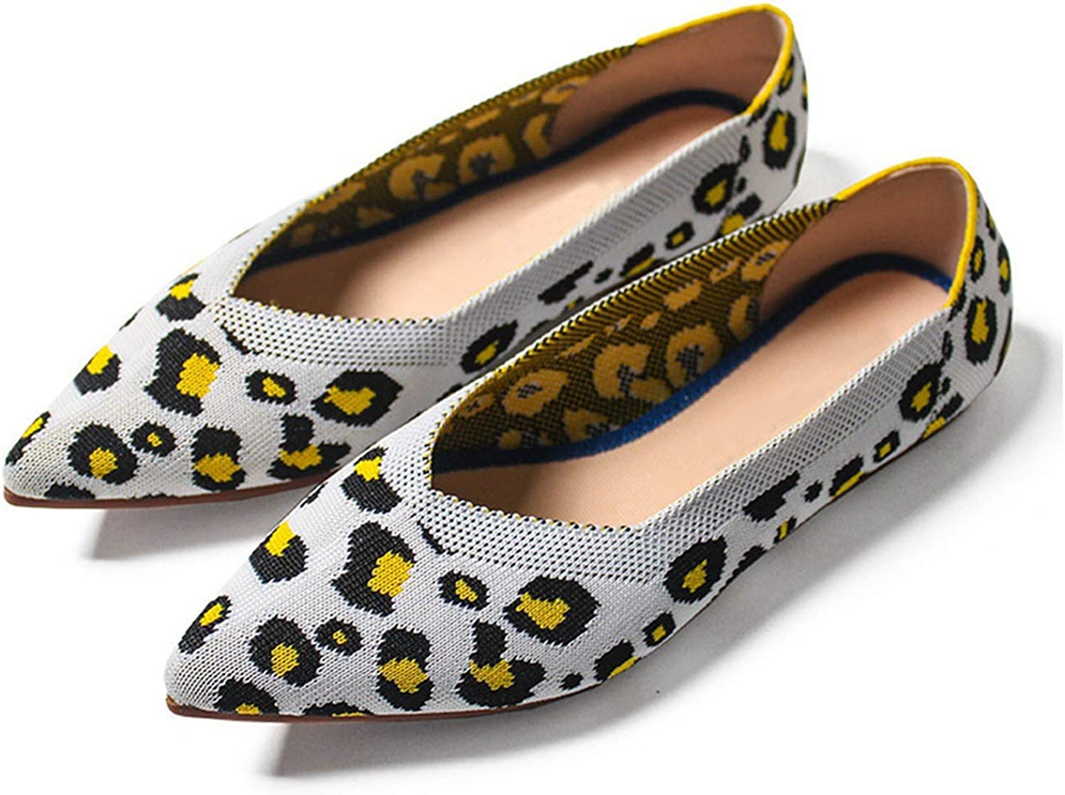 JIESENGTOO Spring Women Flats shoes Leopard Print Casual Single shoes Ballerina Women Shallow Mouth shoes