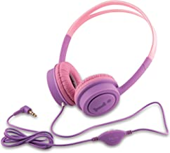 iBall Kids Diva Wired Headphone with in line Volume Controller Violet and Pink