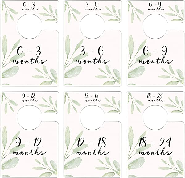 Mumsy Goose Nursery Closet Dividers Greenery Baby Clothes Dividers Botanical Closet Organizers