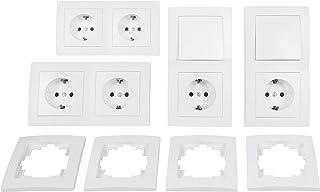 comprar comparacion MC POWER 4250967318571 FLAIR Starter - Juego de interruptores y enchufes (16 piezas), color blanco