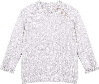 Gocco Jersey Crudo Mezcla con Botones de Madera Sweater para Niños