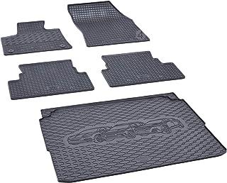 Kofferraumwanne und Gummifußmatten passgenau geeignet für Opel Grandland X ab 2017 Farbe Schwarz + Gurtschoner