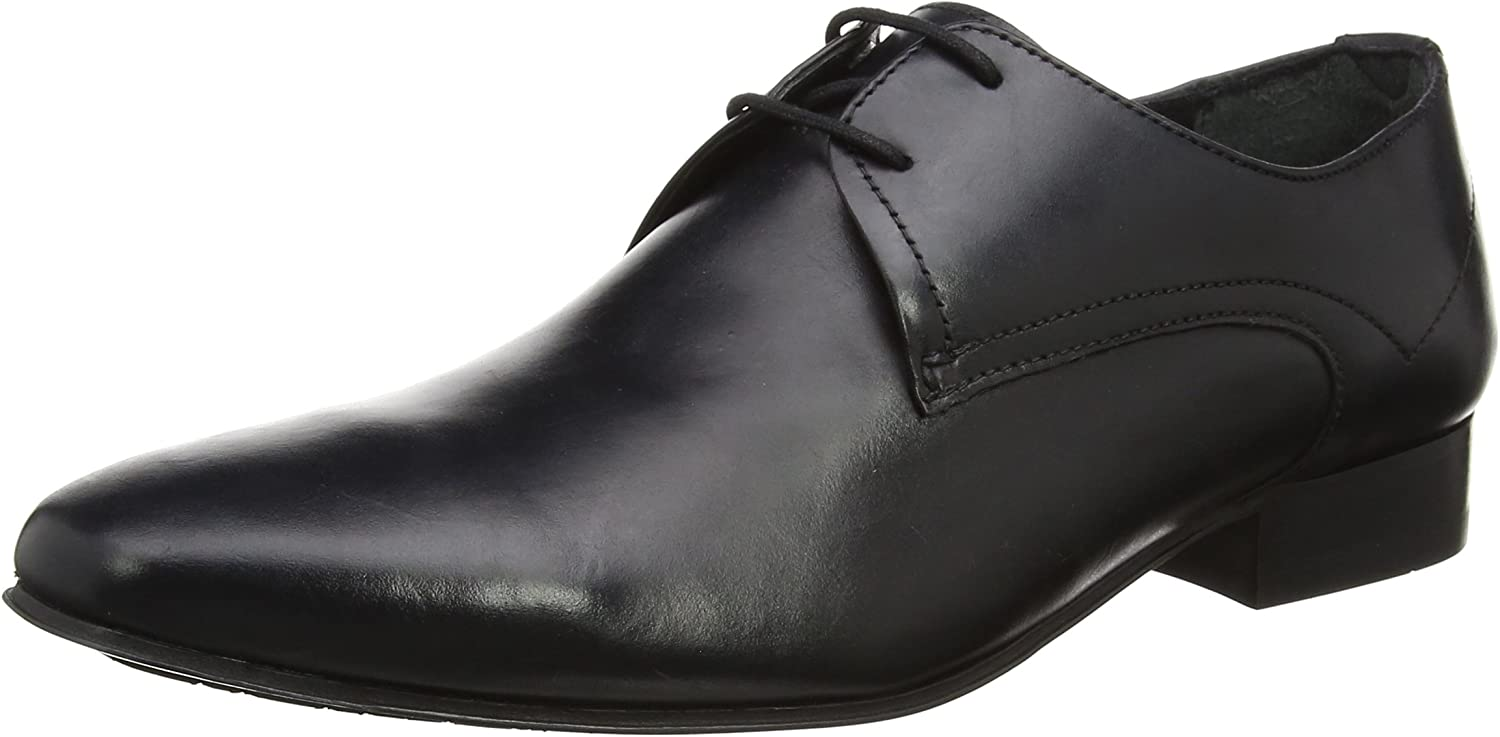 Hudson Mens Black Calf Leto shoes-UK 8