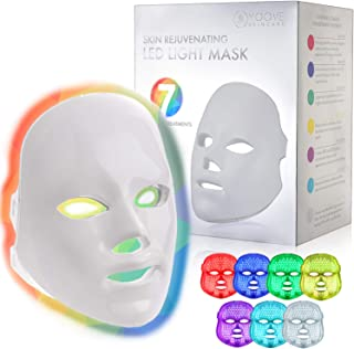 YOOVE LED Face Mask - 7 Colors Including Red Light Therapy For Healthy Skin Rejuvenation   Home Light Therapy Facial Care Mask