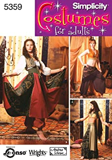 Simplicity Women's Gypsy and Belly Dancer Costume Sewing Patterns, Sizes 6-12