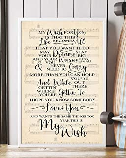 My Wish Lyrics Portrait Poster Print (16