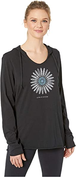 Primal Daisy Long Sleeve Hooded Smooth Tee™