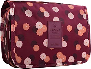 OZSTOCK® MakeUp Bag Travel Cosmetic Storage Hanging Organizer Folding Pouch Toiletry (Wine Red)