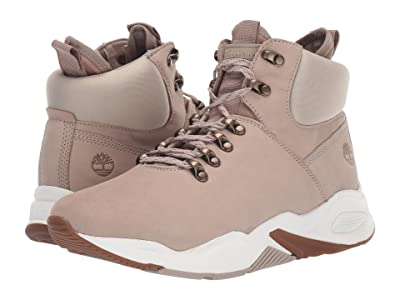 Timberland Delphiville High Top Sneaker (Light Beige Nubuck) Women