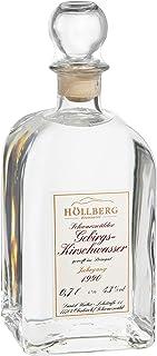 Original Höllberg Gebirgs-Kirschwasser Carré 43% Vol. | Premium Obstbrand mit edlem Kirsch Aroma | Edelbrand aus Familienbrennerei