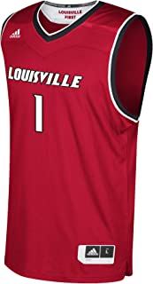 adidas Louisville Cardinals NCAA 1 Red Replica Basketball Jersey